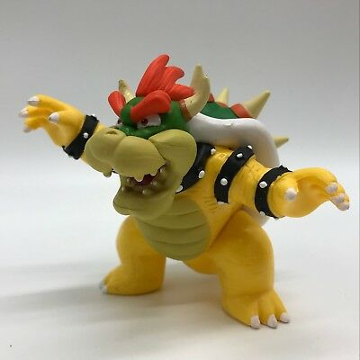 """New Super Mario Bros. Bowser Koopa Plastic PVC Figure Toy Doll Collectible 4"""""""