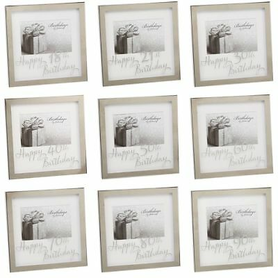 WIDDOP HAPPY BIRTHDAY PRINT AGE MIRROR EDGE PHOTO FRAME 6\