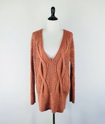 Kimchi Blue Urban Outfitters Womens Sweater Size S Small Open Knit V