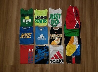 Summer Lot Boys 6, 7 Nike Under Armour Adidas shirts shorts set outfit dri-fit