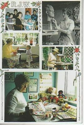 Rosalind Jill Wicks Art Postcard No 1 showing family, workplace and children