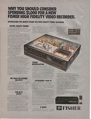 Vintage 1986 Fisher Video Recorder print ad  Great to frame!
