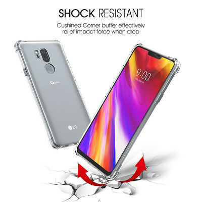 Slim Clear Soft TPU Silicone Shockproof Case Cover For LG Q Stylus/LG G7 ThinQ