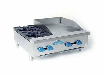 "Comstock Castle 36"" Wide Counter Top Combo W/ 2 Open Burners & 24"" Griddle"