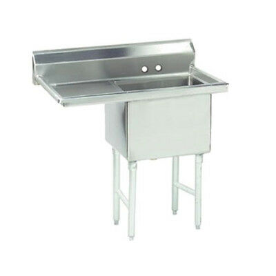 """Advance Tabco 1 Compartment Sink 16""""x20""""x14"""" Size Bowl 18"""" Left Drainboard"""
