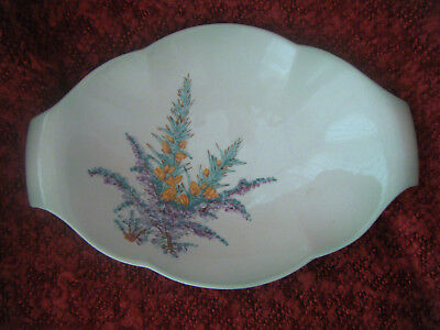 Beswick Dish In Turquoise With Embossed Flowers Handpainted