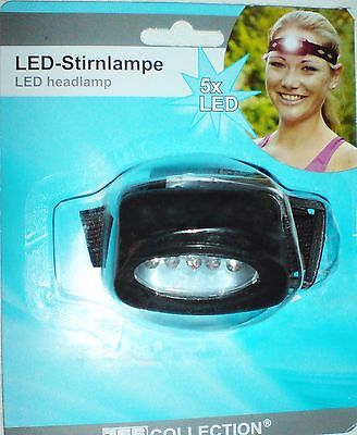 LED - STIRNLAMPE - 5x LED´s - SEHR HELL - KOPFLAMPE - BELEUCHTUNG ~ ***NEU*** ~