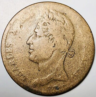 1828 French Colonies 10 Centimes