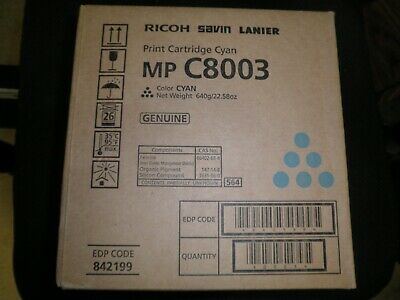 Ricoh MP C8003 MPC8003 Black Toner Cartridge 842196 Lanier MP C8003 Savin