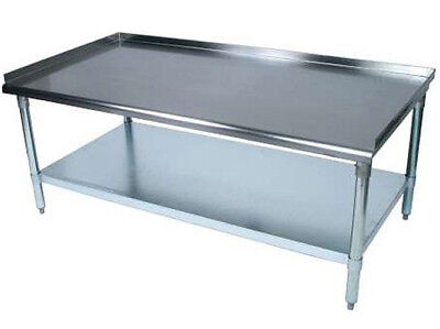 """BK Resources VETS-6030 Economy 30"""" x 60"""" Stainless Kitchen Equipment Stand"""