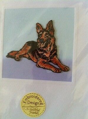 Lot Of 5 Embroiidered German Shepherd Embroidered Notecards From Crufts Dog Show