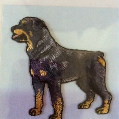 Lot Of 5 Rottweiler Embroidered Note Cards From Crufts Dog Show~~Simply Stunning