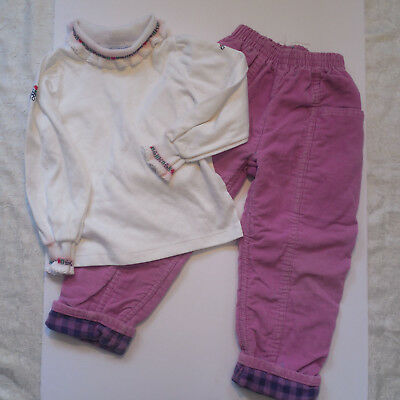 OshKosh BGosh Girls 4T Vtg Outfit Corduroy Pants Long Sleeve Shirt 80s 90s