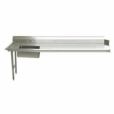 """Advance Tabco 48"""" Soiled Dishtable Stainless 16 Gauge w/ Stainless Legs"""