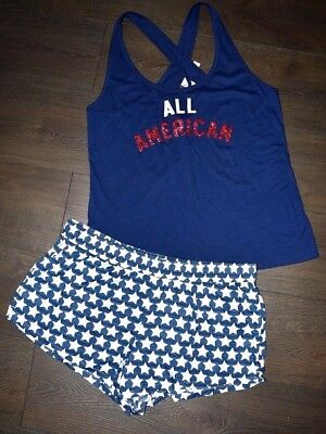 a926b3d94f7 Victoria s Secret All American On Tank Top  Mayfair Shorts Pajama Set Large