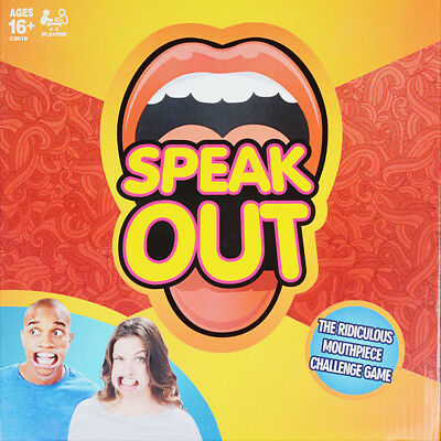 Speak Out Game Board Party Mouth Piece Challenge Family Kids Fun Xmas Gift Tsm