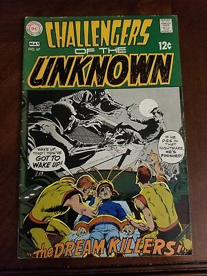Challengers Of The Unknown #67  Neal Adams Cover  Silver-Age  Dc  1969  Nice!!!