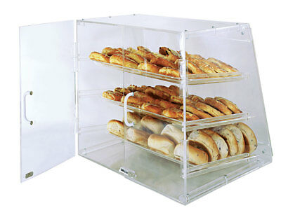 Update APB-2117 Acrylic Pastry Case 21in x 17.25in x 16.5in w/ 3 Trays