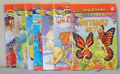 7 Magic School Bus Chapter books- Whales,Sharks,Dinosaurs,Science, Polar Bears +
