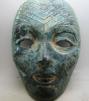 Old Middle Eastern Theatrical Decorated Mask Unique Item