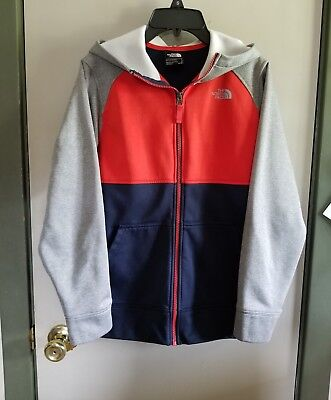 Boys North Face Zip Hoodie Size Large Very Good Condition