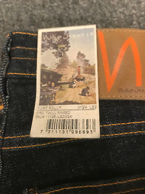 Nudie Jeans Tube Kelly  Twill Rinsed Brand New With Tags Retail $149