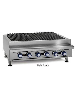 "Imperial Range IRB-36 Countertop 36"" Charbroiler Gas Broiler"