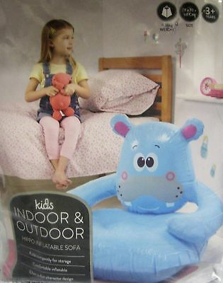Kids Indoor And Outdoor Hippo Inflatable Sofa New/sealed