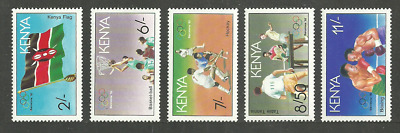 Kenya 1992 Sport Olympics Barcelona Boxing Table Tennis Basketball Set Mnh