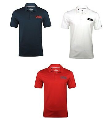 Adidas Ultimate 365 Solid USA Polo Mens Golf Shirt 2018 Pick Size & Color