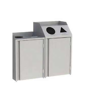 """Lakeside 4312 26-1/2""""Wx23-1/4""""Dx45-1/2""""H 46 Gallon Waste & Recycle Station"""