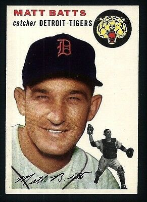 Matt Batts Detroit Tigers 1954 Topps Card #88