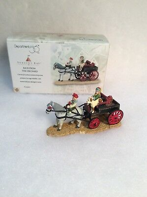 Dept 56 Seasons Bay Back From The Orchard #53320 Excellent