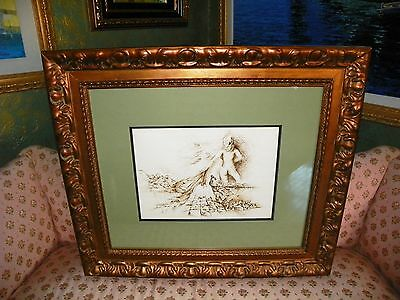 Zamy Steynovitz Original Ink on Paper Signed with COA. ( BATHTUB MOUNTAIN )