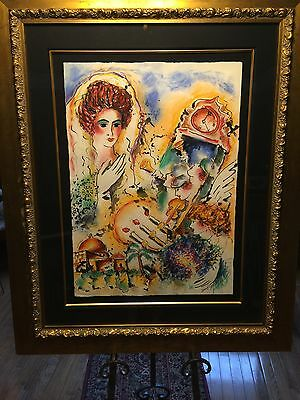 LARGE Zamy Steynovitz Original Watercolor Signed with COA