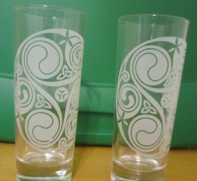 "V3930 Irish Mist Liqueur After Dinner Drink 5 1/2"" Glasses, Set of 2, Italy"