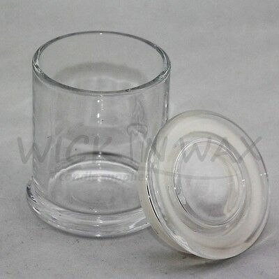 Metro Clear Glass Jars With Flat Lid In Different Sizes For Candle Making