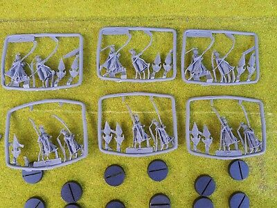 12x High Elves with Shields - LORD OF THE RINGS Hobbit Lotr - Resin Replica