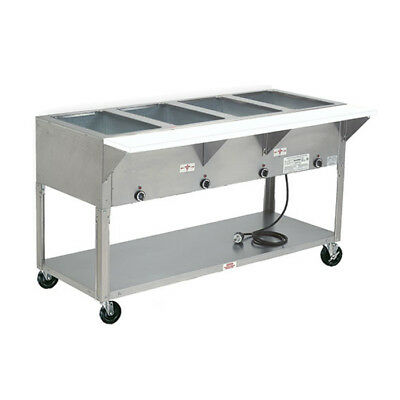 "Advance Tabco HF-4E-240-X 62"" Electric 4 Well Hot Food Table w/ SS Top 240v"
