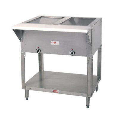 "Advance Tabco HF-2G-LP 32"" Stainless Steel Top 2 Wells Hot Food Table LP Gas"