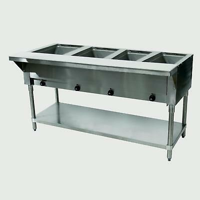 "Advance Tabco 62"" Electric 4 Sealed Hot Food Wells Table w/ Drains 240v"