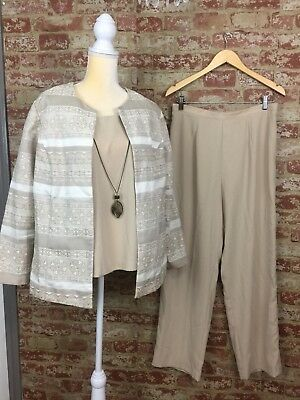 Women's Casual Career Dressbarn Coordinating 3 pc size 14W Matching set Outfit