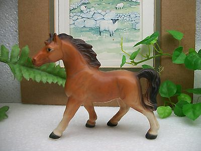 "Vintage Brown with White HORSE Pony 5"" Ceramic Porcelain Figurine Figure  JAPAN"
