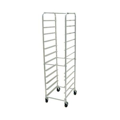 Advance Tabco Mobile Aluminum Pan Rack Holds 18 Full Size Pans Front Load
