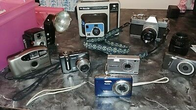 Lot Of 8 Assorted Cameras - Untested AS IS