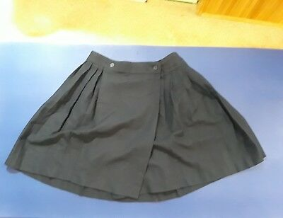 French Toast Pleated Skirt Size 18, Navy Blue