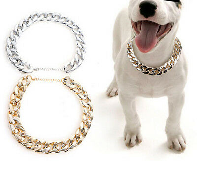 2CM width Pet Dog Cat Necklace Collar w Extenstion Chain Pets Puppy Jewelry Gift
