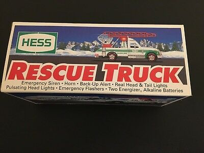 1994 Hess Rescue Truck - Brand New In Box
