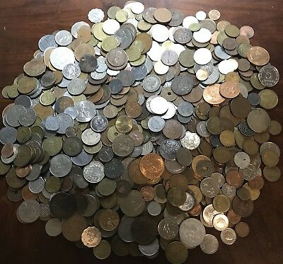 HUGE **6.7 Lbs.** Of Foreign / World Coins Lots - Nice Mix! .99 Start