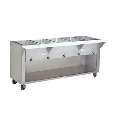 "Advance Tabco 62"" Electric 4 Sealed Hot Food Wells Table Enclosed Base"